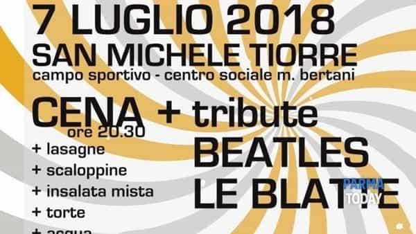 """bricco memorial _ 7 luglio 2018 _ cena benefica + tribute beatles """"le blatte"""" _ san michele tiorre _ felino (pr)"""