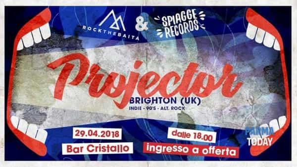 projector (brighton - uk) live al bar cristallo 29 aprile 2018