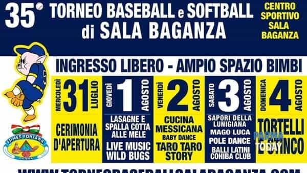 35° torneo di baseball e softball - sport, cibo e musica