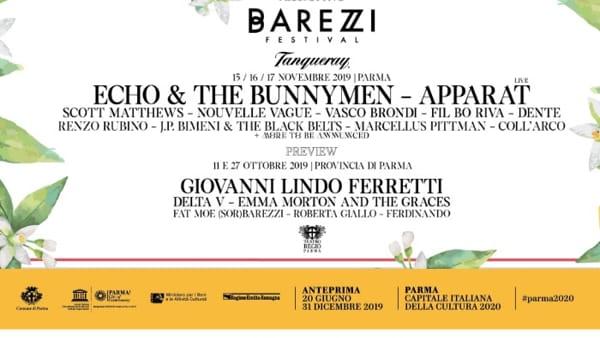 Ecco il Barezzi Festival, da Echo & The Bunnymen a Vasco Brondi e Cristiano Godano: il programma