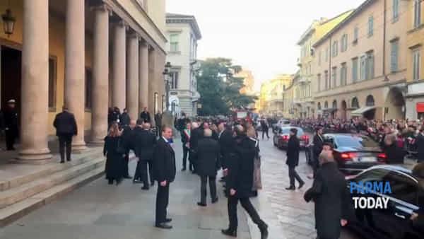 VIDEO - Parma Capitale della Cultura: l'arrivo del presidente Mattarella al Regio