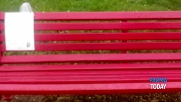 colorno. festino con alcool e fumo sulla panchina rossa.-4