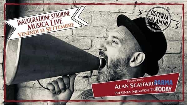 alan scaffardi con i megafone trio inaugura la stagione live all'osteria salamini