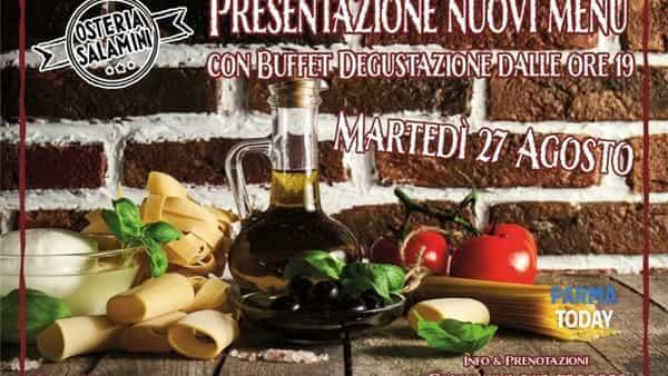 Degustazione dei nuovi menù all'Osteria Salamini