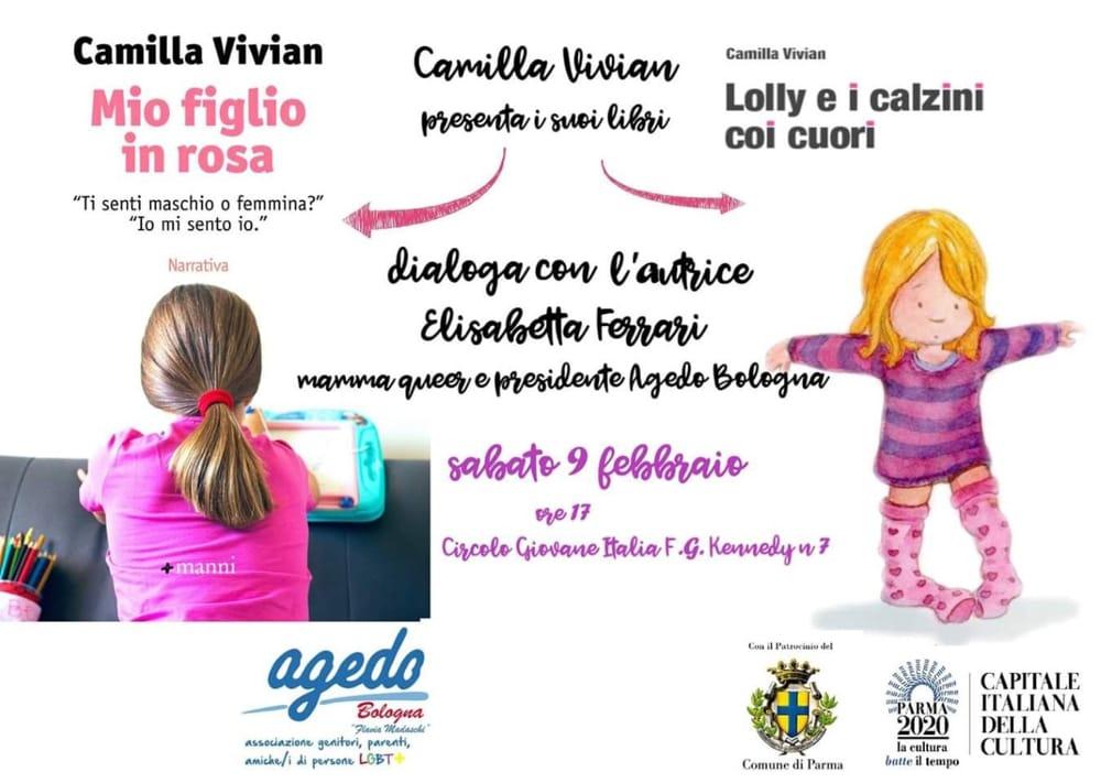 """Mio figlio in rosa"""", la presentazione del libro sabato 9 febbraio, alle 17, al circolo Giovane Italia"""