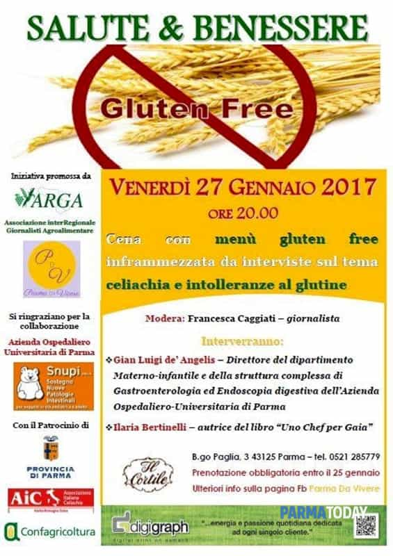 Gluten Free Con Gusto Serata A Tema Per Il Ciclo Salute Benessere Eventi A Parma
